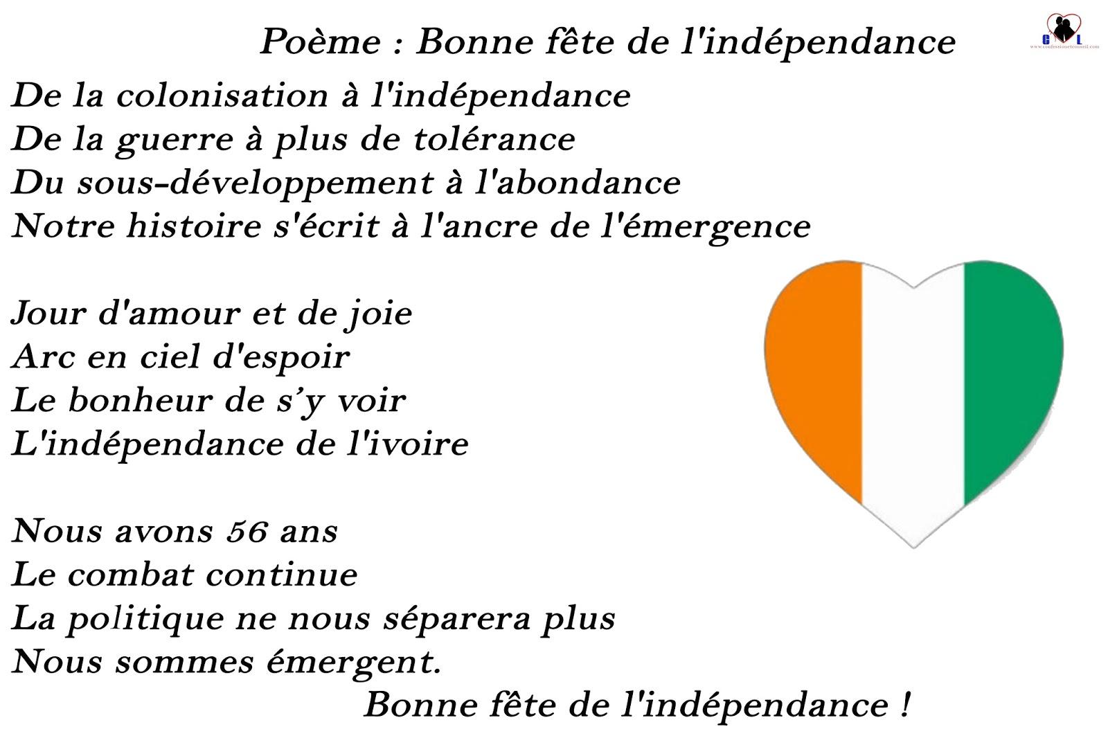 Poème Bonne Fête De Lindépendance