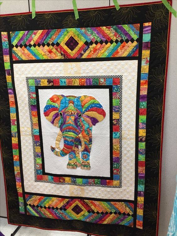 Elephant Quilt Supplies Needed For Elephant Panel