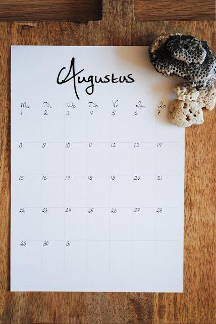 kalender augustus