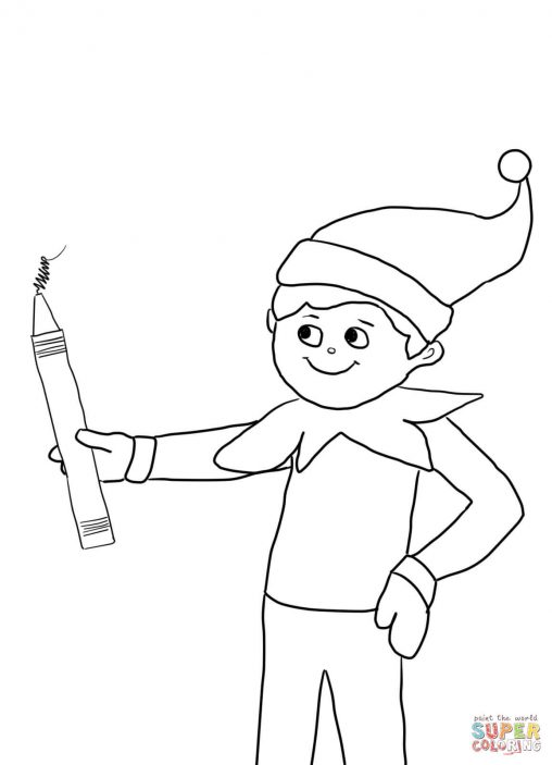 Effortless image with elf on the shelf printable coloring pages