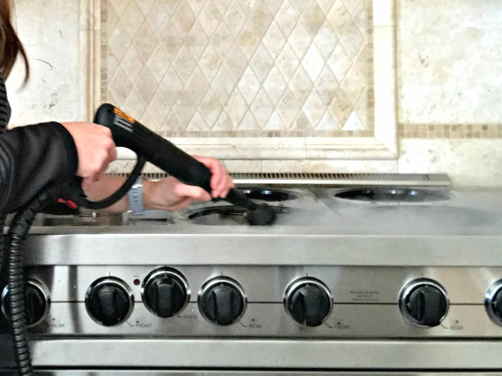 steam cleaning kitchen appliances