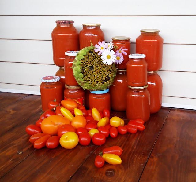 томатный сок собственного изготовления