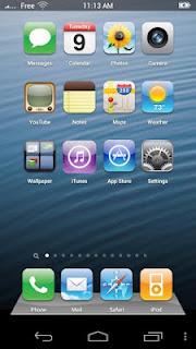 Download Aplikasi untuk Ubah Android Menjadi iPhone 5 iOS