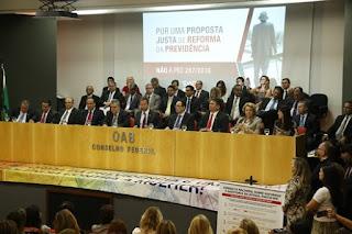 """PEC da reforma é """"retrocesso inadmissível que a sociedade não pode aceitar"""", diz Lamachia"""