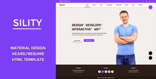 Sility - vCard, CV & Resume HTML Template