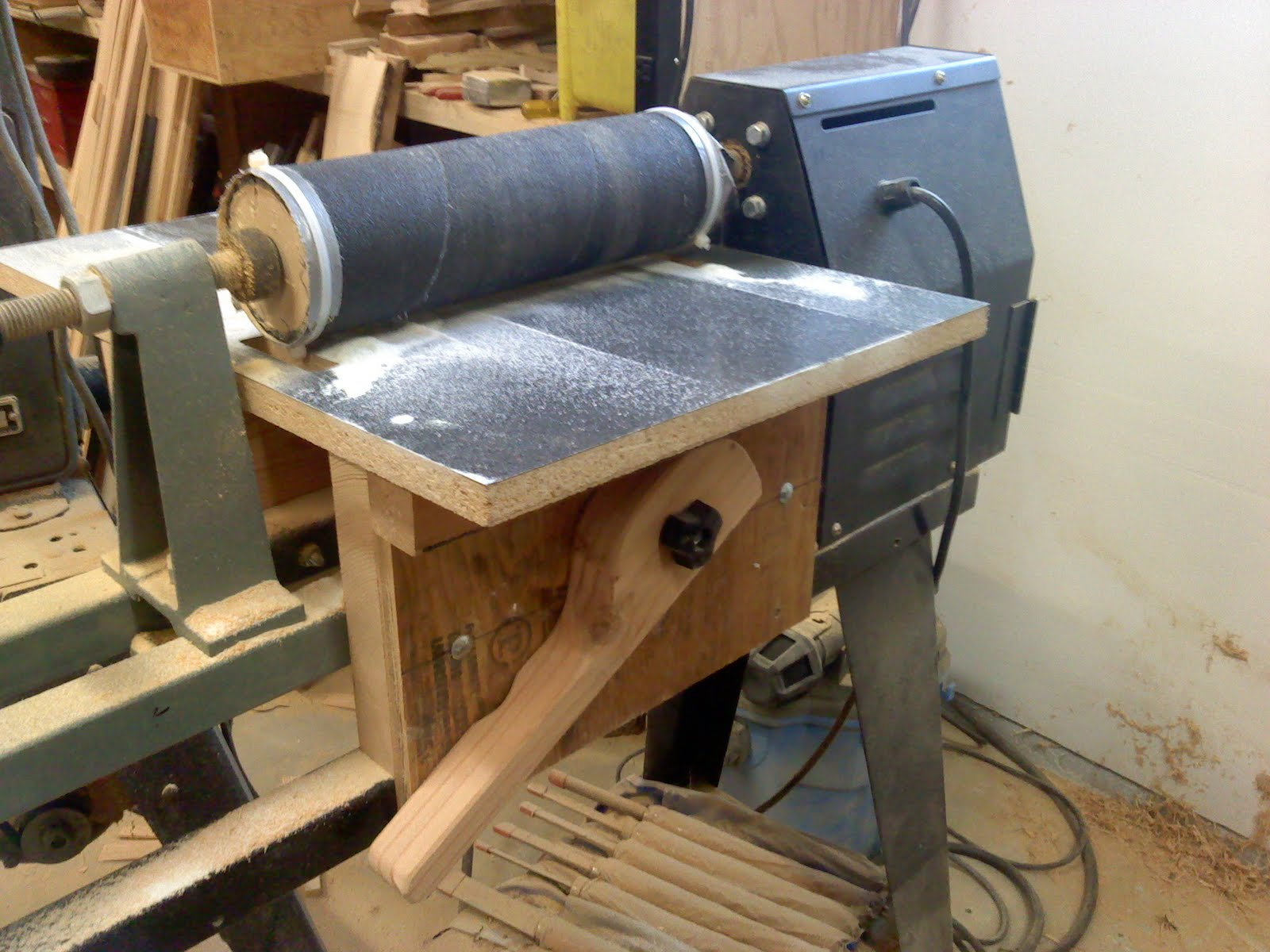 Homemade Drumstick Lathe 88