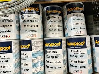 Kumpulan Daftar harga cat anti bocor aquaproof, merk waterproofing no drop, tembok waterproof, acrylic emulsion paint, 20kg, 18kg, di makassar, bali, surabaya, jogja, sidoarjo, malang, terbaru.