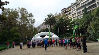 An @AdidasRunning Day by olympic runner @C_Castillejo to celebrate 100 years of upper Barcelona's Turó Park