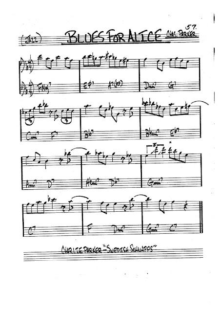 Partitura Violonchelo Charlie Parker