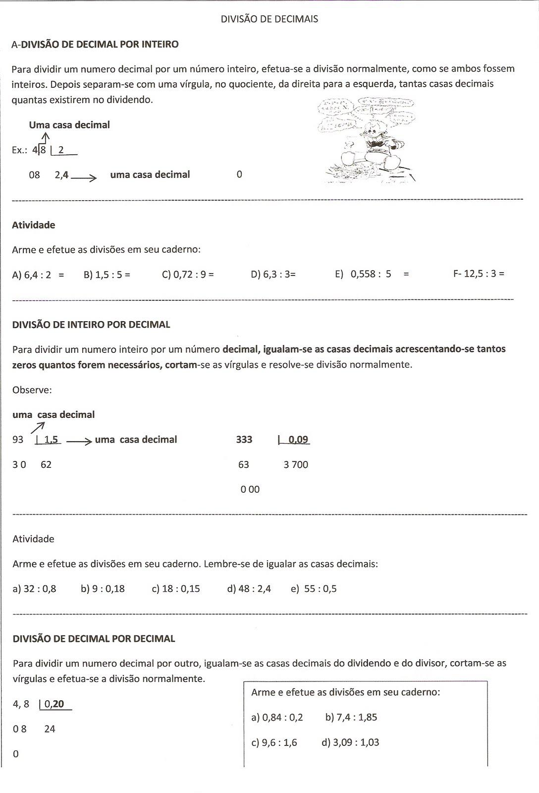 Super Escolinha da Hora: DIVISÃO DE NÚMEROS DECIMAIS CH39