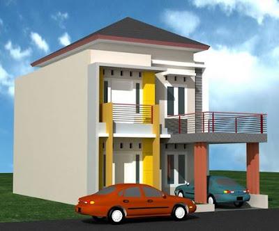 Model Gambar Rumah Minimalis 2 Lantai Type 36