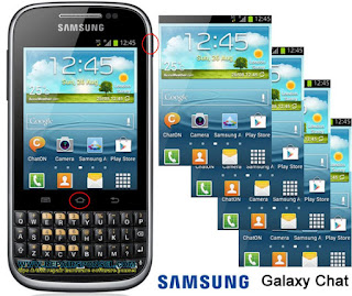 Cara Screenhot Samsung Galaxy Chat B5330