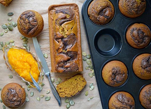 dyniowy chlebek, ciasto dyniowe, dyniowe ciasto, dyniowe muffiny, przepisy na dynie
