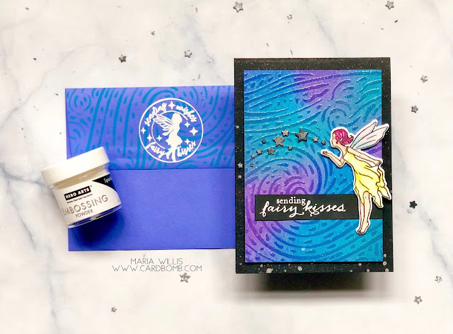 #mariawillis, #cardbomb, #heroarts, #newrelease, #newcatalog, #2019heroartscatalog, #colorlayeringiris, #fairykisses, #maildelivery, #thestampingvillage, #starrynight, #cards, #cardmaking, #handmadecards, #craft, #papercraft, #stamp, #ink, #paper, #handmade, #diy, #create, #color, #watercolor, #copics, #copicmarkers, #fairy, #distressoxides, #flowers, #mixedmedia,