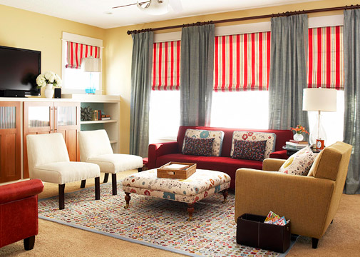 Modern furniture tips for window treatment design ideas 2012 - Window curtain ideas for living room ...