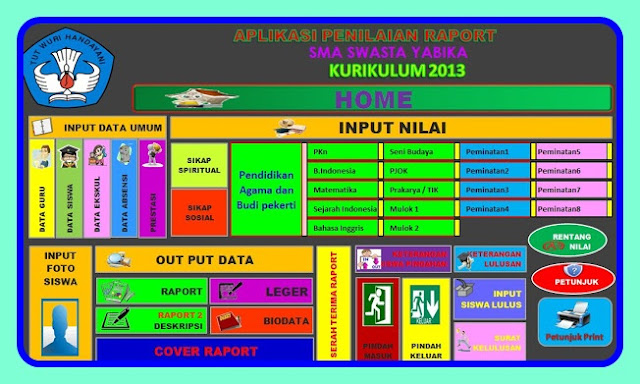 Download Aplikasi E-Raport Kurikulum 2013 Revisi 2016/2017