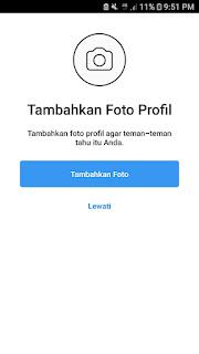 Upload photo profile
