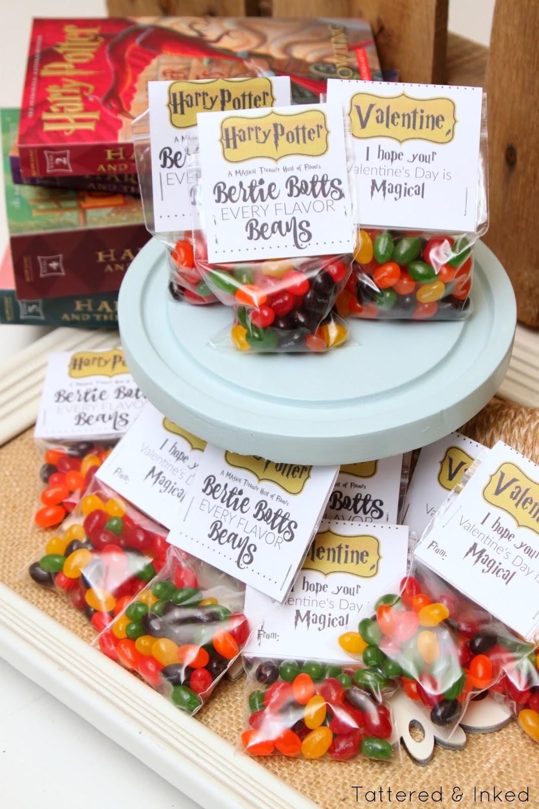 Bertie Botts Every Flavor Beans Label
