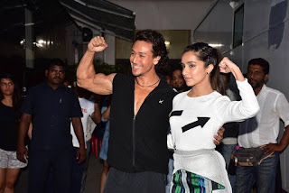 Tiger Shroff and Shraddha Kapoor at the ‪‎Baaghi‬ promotions held in Mumbai