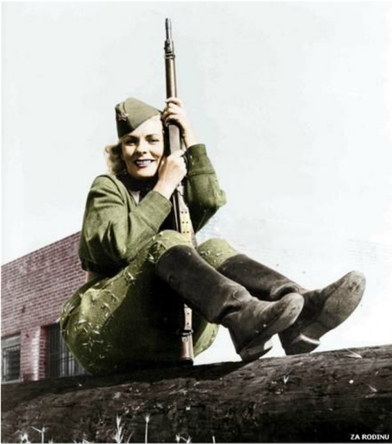 Kyra Petrovskaya, Women color photos worldwartwo.filminspector.com