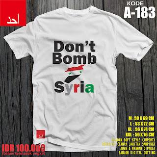 Don't Bomb Syiria - Desain Baju Muslim