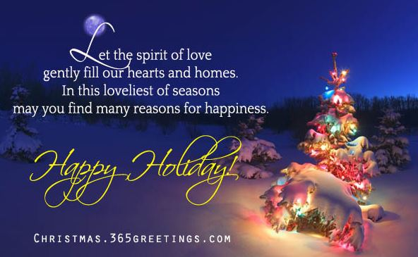 Christmas Greetings Message Happy Holidays!