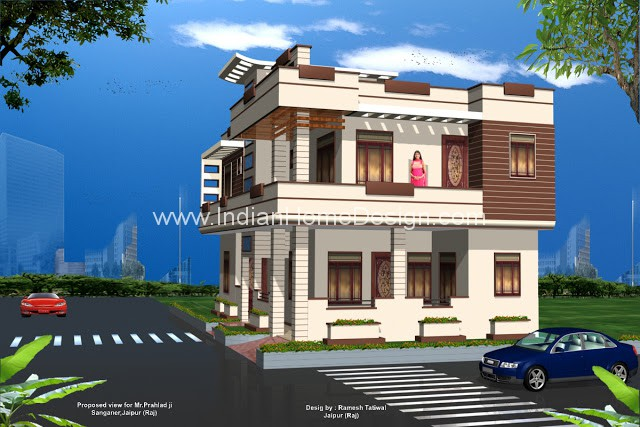3d views of rajasthan style home exterior indian home for 3d view of house