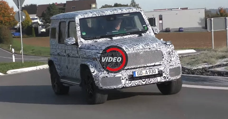 Spy Clip Snaps The Digital Dash Of The Next Mercedes-AMG G63