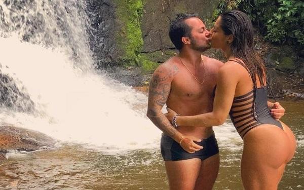 Andressa Ferreira e o marido, Thammy (Foto: Reprodução)