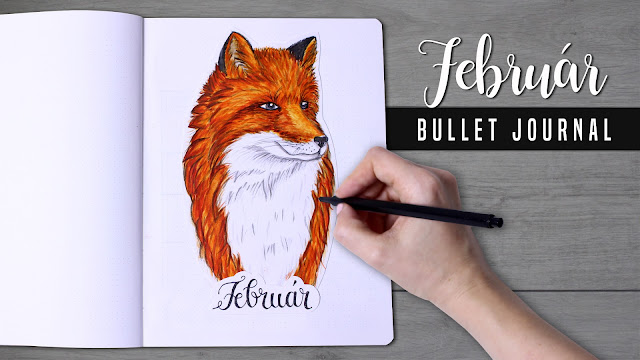 2018 Bullet Journal february, red fox