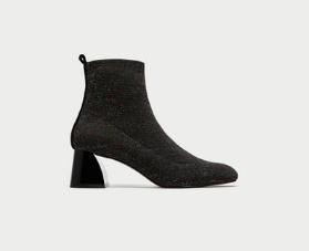 bottines chaussettes zara