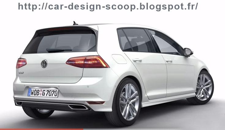 car design scoop scoop et dernieres infos automobile scoop nouvelle golf 7 restyl e pr vue. Black Bedroom Furniture Sets. Home Design Ideas