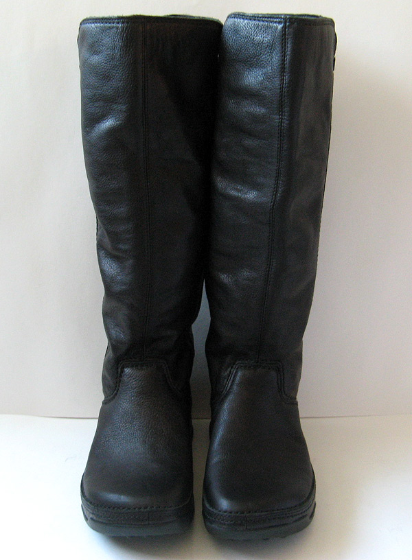 Tall Black Leather Riding Boots Womens Size 9 Fitflop