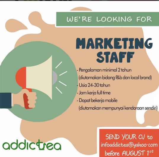 Lowongan Kerja Addictea Bandung Juli 2016