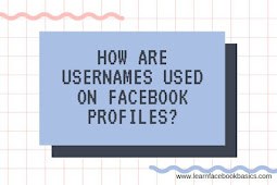How are usernames used on Facebook profiles?