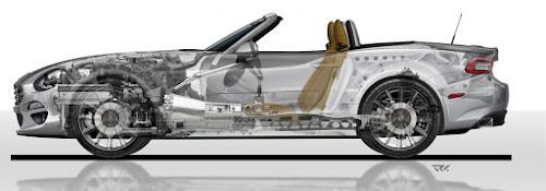 Fiat 124 Spider Cutaway