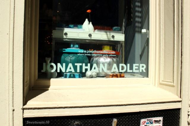 Jonathan Adler storefront in Soho