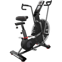 Schwinn AD7 Airdyne Exercise Bike, Schwinn AD Pro, with 26 blade fan for more watt power, single-stage direct drive system, belt drive, air resistance, 4-way adjustable seat, multi-grip handlebars