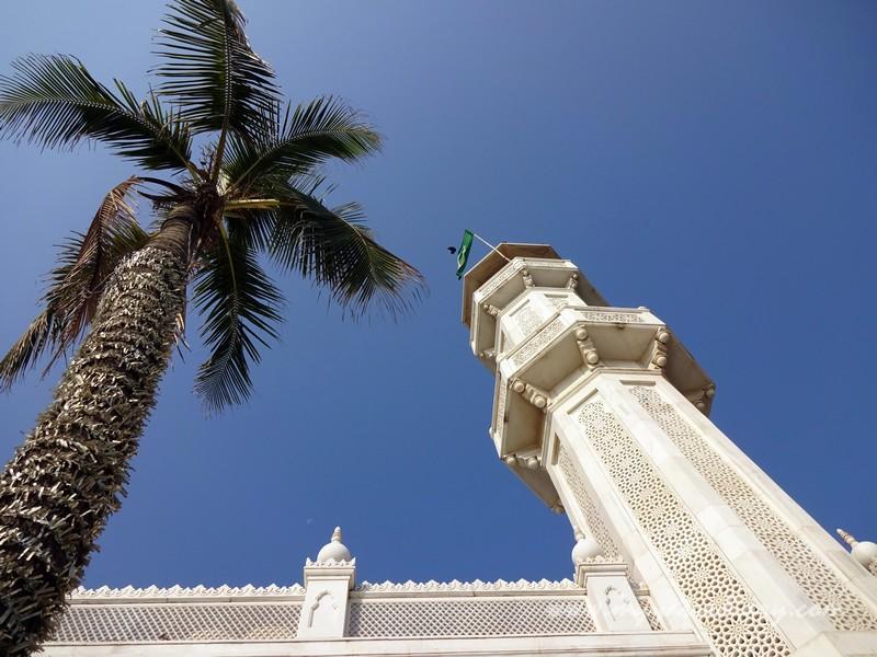 Tall minarets at Haji Ali Dargah, Mumbai