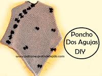 Poncho tejido con dos agujas fácil