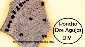 Poncho Dos Agujas Muy Fácil / Tutorial DIY