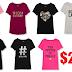 Women's Graphic T-Shirts $2.99 + Free Shipping