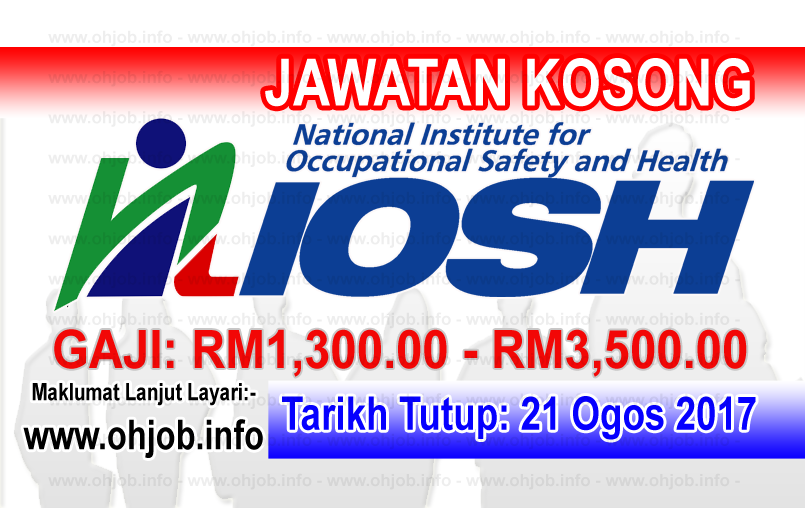 Jawatan Kerja Kosong Institut Keselamatan dan Kesihatan Pekerjaan Negara - NIOSH logo www.ohjob.info ogos 2017