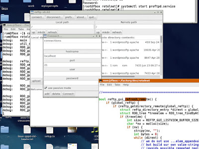 reFtp ftp client for AROS and Linux screenshot