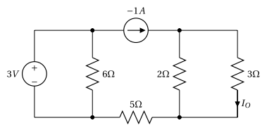 Thevenin's Theorem - Circuit containing two independent sources