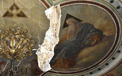 Μερική κατάρρευση της στέγης του Αγίου Νικολάου στο Ναύπλιο