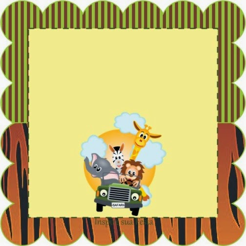 Para hacer invitaciones, tarjetas, marcos de fotos o etiquetas, para imprimir gratis de Dulce Selva.