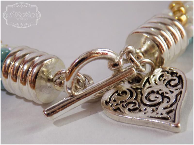sznur szydełkowo-koralikowy, crochet bead, bransoletka, toho, koraliki, bracelet, biżuteria, handmade, rękodzieło, sznur szydełkowy