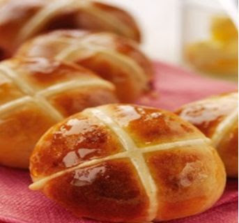Mini Orange & Cranberry Hot Cross Buns