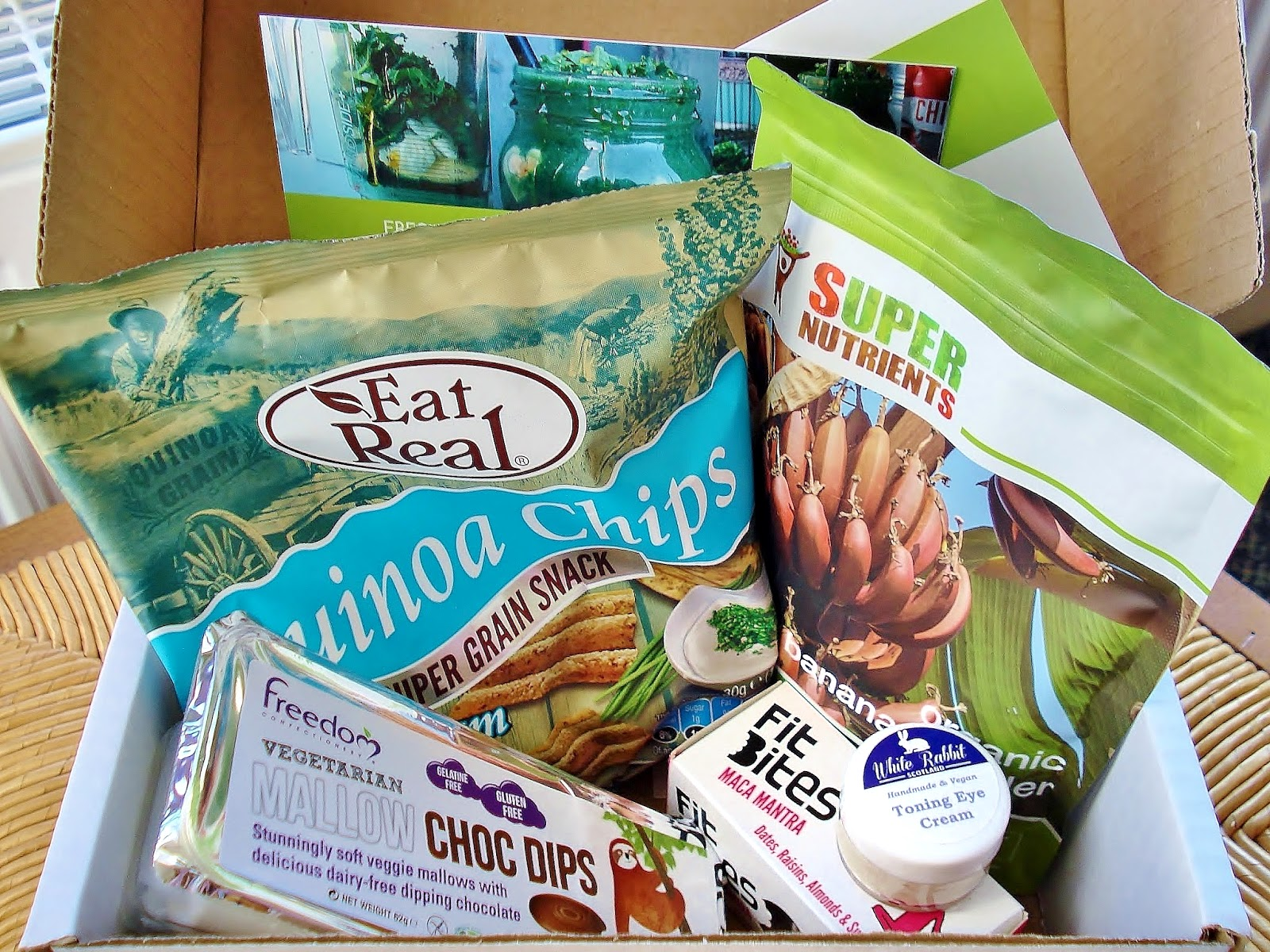 Contents of my Vegan Kind February box